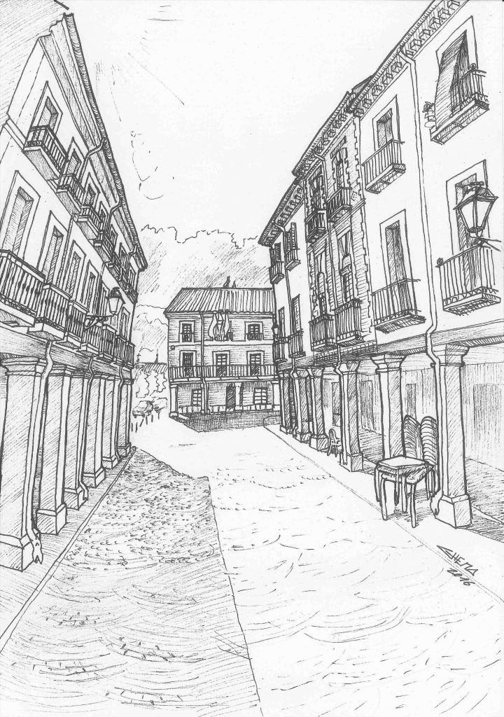Calle Mayor at Alcalá de Henares