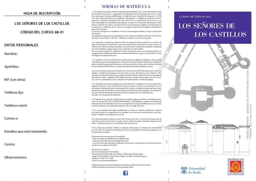 Los Señores de los Castillos - flyer